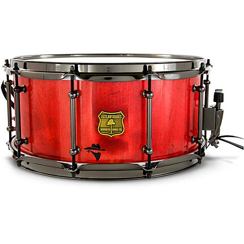 OUTLAW DRUMS Bandit Series Snare Drum with Black Hardware 14 x 6.5 in. Reckon Red