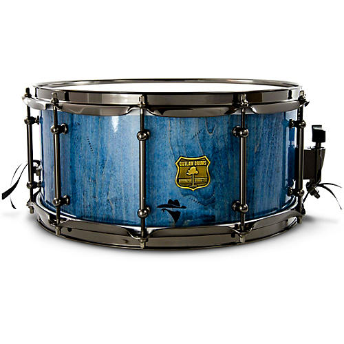 OUTLAW DRUMS Bandit Series Snare Drum with Black Hardware 14 x 7 in. Bandit Blue