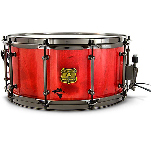 OUTLAW DRUMS Bandit Series Snare Drum with Black Hardware 14 x 7 in. Reckon Red