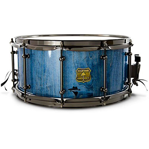 OUTLAW DRUMS Bandit Series Snare Drum with Black Hardware 14 x 8 in. Bandit Blue