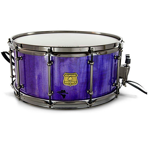 OUTLAW DRUMS Bandit Series Snare Drum with Black Hardware 14 x 8 in. Perilous Purple Sparkle