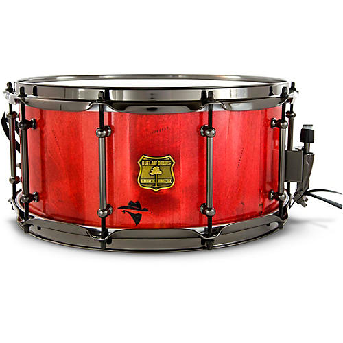 OUTLAW DRUMS Bandit Series Snare Drum with Black Hardware 14 x 8 in. Reckon Red