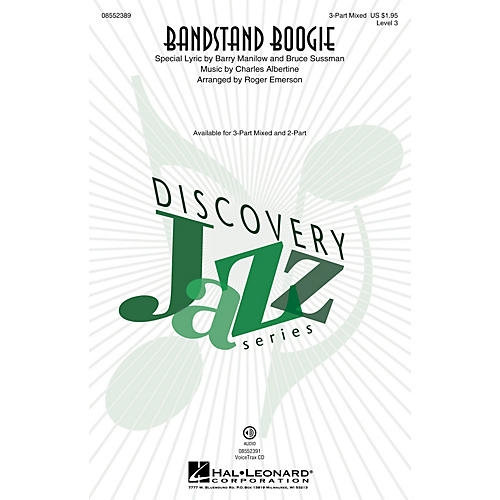 Hal Leonard Bandstand Boogie (Discovery Level 3) 2-Part Arranged by Roger Emerson