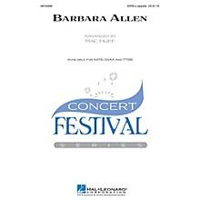 Hal Leonard Barbara Allen TTBB A Cappella Arranged by Mac Huff