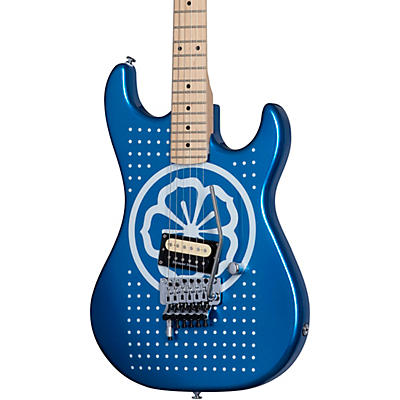 "Kramer Baretta ""White Lotus"" Custom Graphic Electric Guitar"