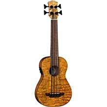 Luna Guitars Bari-Bass Quilt Top Acoustic Electric Ukulele