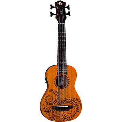Luna Guitars Bari-Bass Tattoo Acoustic-Electric Ukulele