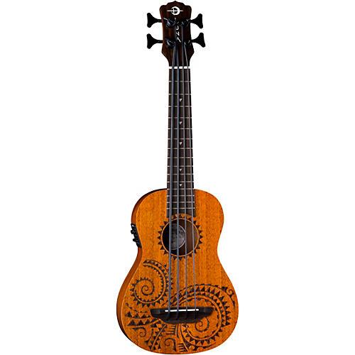 Luna Guitars Bari-Bass Tattoo Acoustic-Electric Ukulele Tattoo