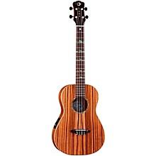 Open BoxLuna Guitars Baritone Zebra Acoustic-Electric Ukulele