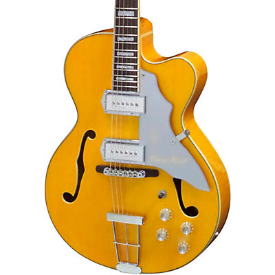 "Kay Vintage Reissue Guitars Barney Kessel Gold ""K"" Signature Series Artist Semi-Hollow Electric Guitar"