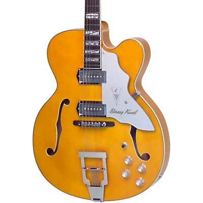 "Kay Vintage Reissue Guitars Barney Kessel Gold ""K"" Signature Series Jazz Special Semi-Hollow Electric Guitar"