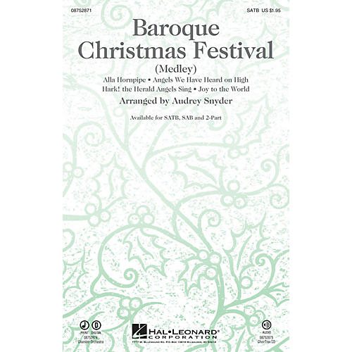 Hal Leonard Baroque Christmas Festival (Medley) 2-Part Arranged by Audrey Snyder