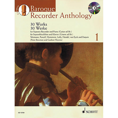 Schott Baroque Recorder Anthology - Vol. 1 Woodwind Series Softcover with CD