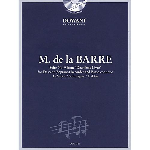 Dowani Editions Barre: Suite No 9 from Deuxième Livre in G Maj for Descant (Soprano) Recorder & Basso Cont Dowani Book/CD