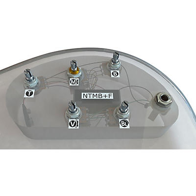 Bartolini HR-5.2AP/918 3-Band NTMB+F Preamp, 5 Pots