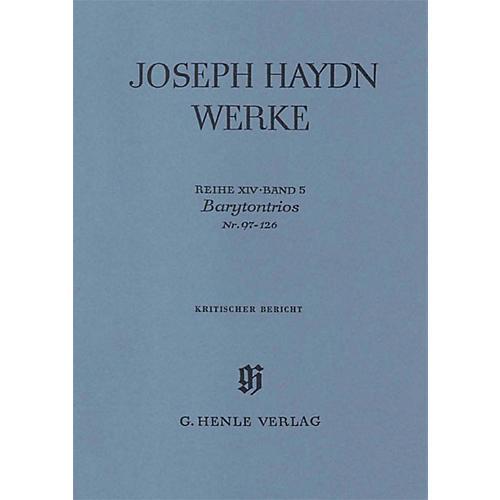 G. Henle Verlag Barytone Trios No. 97-126 Henle Edition Series Hardcover
