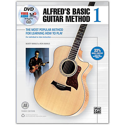 Alfred Basic Guitar Method 1, 3rd Edition Book, DVD, Online Audio, Video and Software