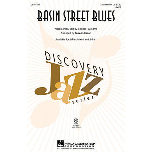 Hal Leonard Basin Street Blues 2-Part Arranged by Tom Anderson