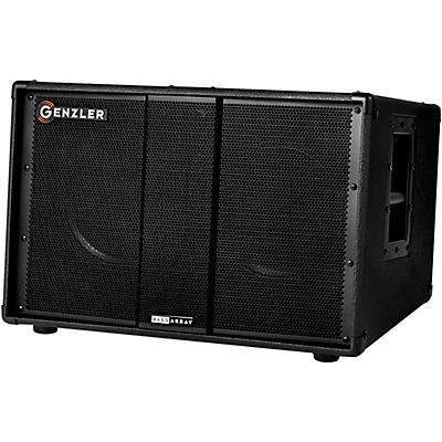 """Genzler Amplification Bass Array 210 Slanted Version, w/ 2x10"""" Neo and 4 x 3"""" Line Array Bass Cabinet"""