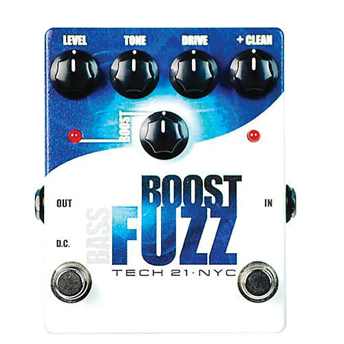Tech 21 Bass Boost Fuzz Analog Bass Fuzz Pedal