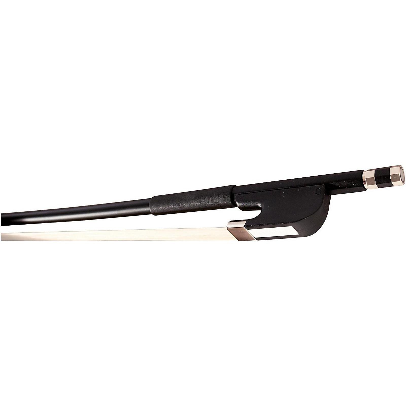 Glasser Bass Bow Fiberglass Half-Lined Frog Leatherette Grip