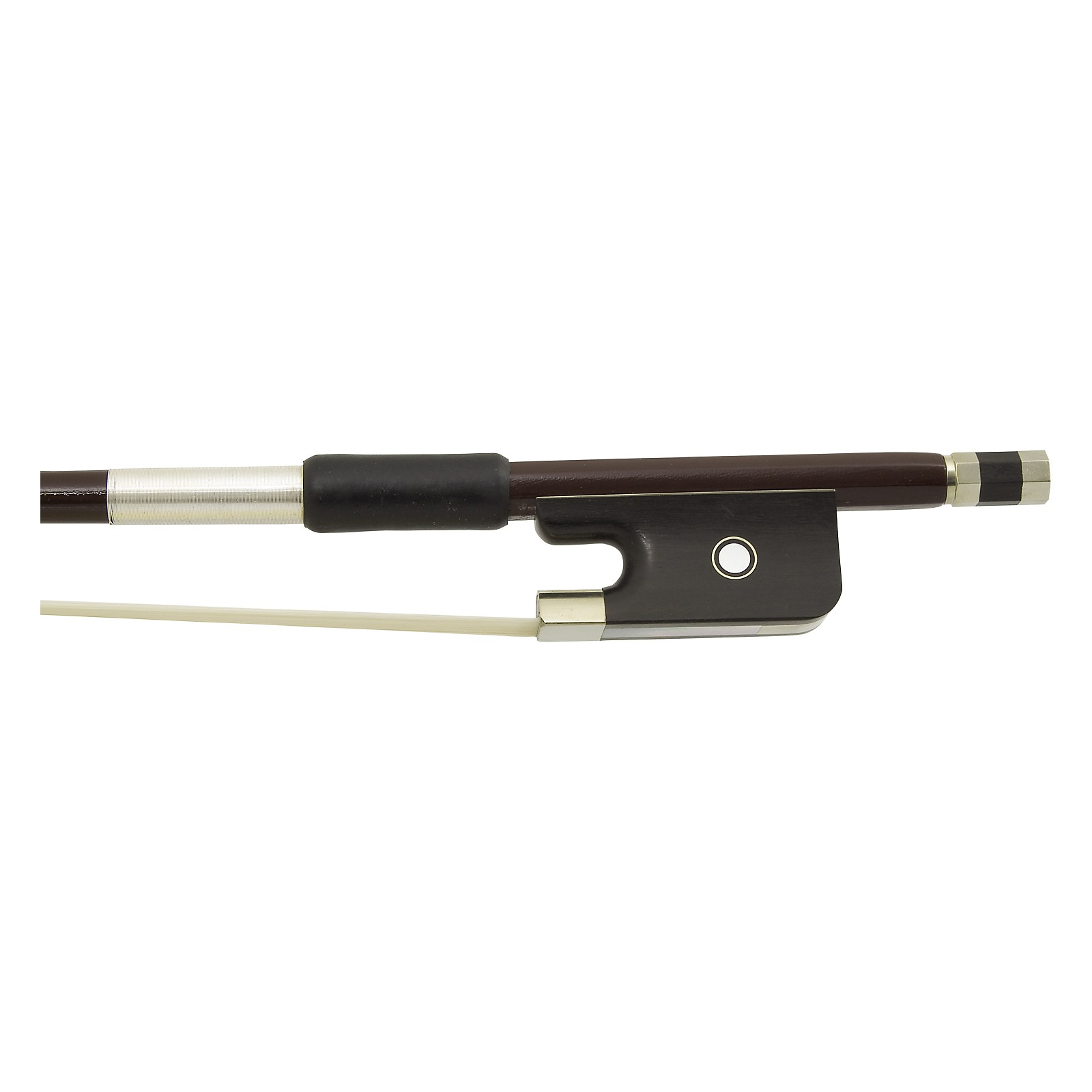 Glasser Bass Bow French Advanced Composite, Fully-Lined Ebony Frog, Nickel Wire Grip