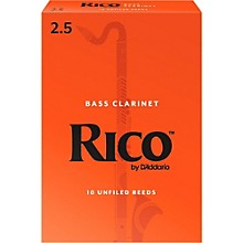 Bass Clarinet Reeds, Box of 10 Strength 2.5