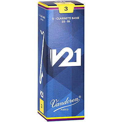 Vandoren Bass Clarinet V21 Reeds Box of 5