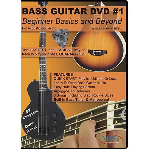 MJS Music Publications Bass Guitar DVD #1 - Beginner Basics and Beyond