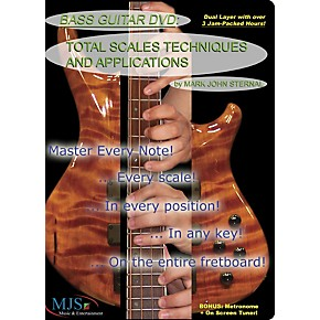 mjs music publications bass guitar dvd total scales techniques and applications musician 39 s friend. Black Bedroom Furniture Sets. Home Design Ideas