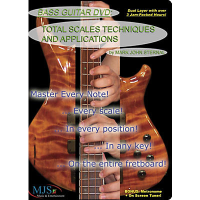 MJS Music Publications Bass Guitar DVD: Total Scales Techniques and Applications