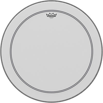 """Remo Bass, Powerstroke 3, Coated, 23"""" Diameter, 2-1/2"""" White FALAM Patch"""