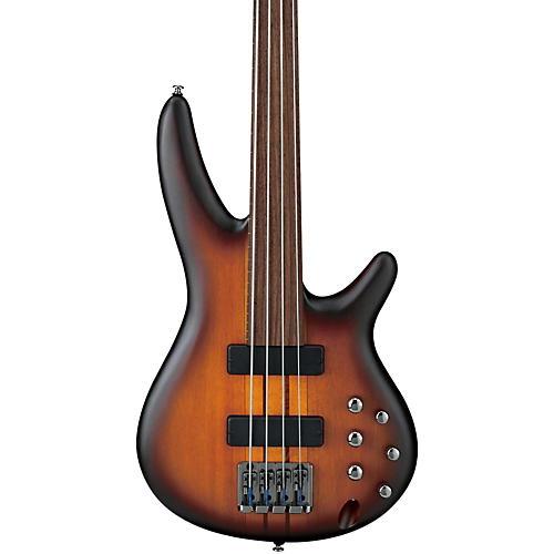Ibanez Bass Workshop SRF700 Portamento 4-String Fretless Electric Bass Flat Brown Burst Rosewood Fretboard