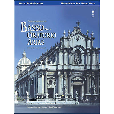 Music Minus One Basso Oratorio Arias Music Minus One Series Softcover with CD  by Various