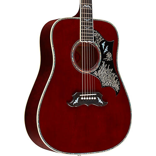 Gibson Bats in Flight Acoustic Guitar Blood Red