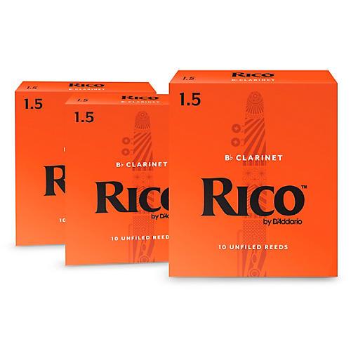 Rico Bb Clarinet Reeds, Box of 10, 3 Box Special