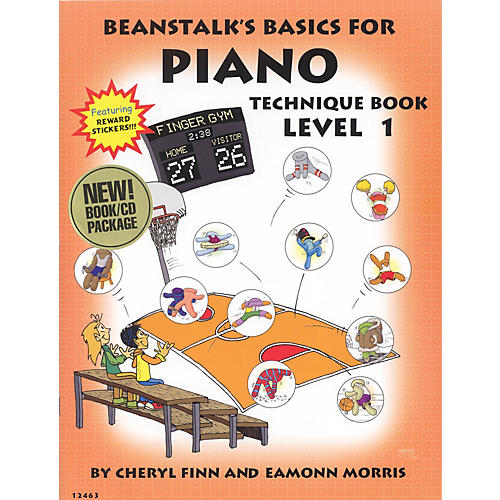 Willis Music Beanstalk's Basics for Piano - Technique Books (Level 1) Willis Series Softcover with CD by Cheryl Finn