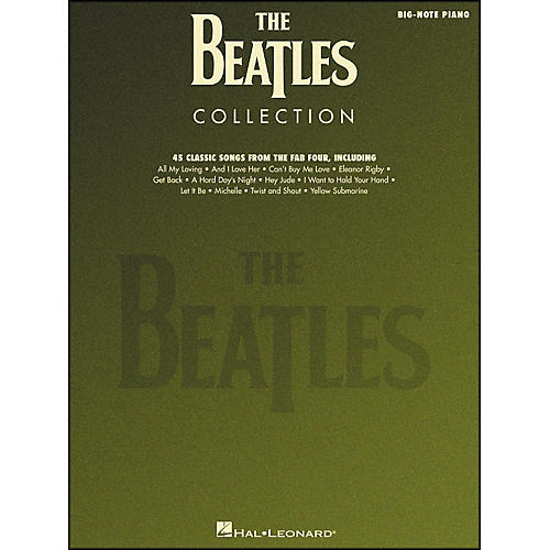 Hal Leonard Beatles Collection for Big Note Piano