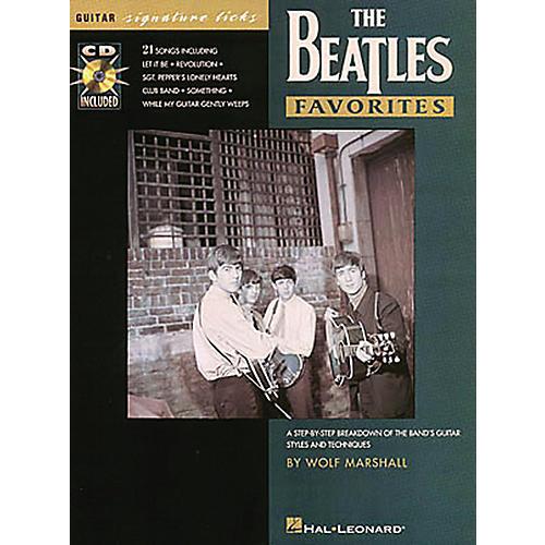 Hal Leonard Beatles Favorites Guitar Signature Licks Book with CD