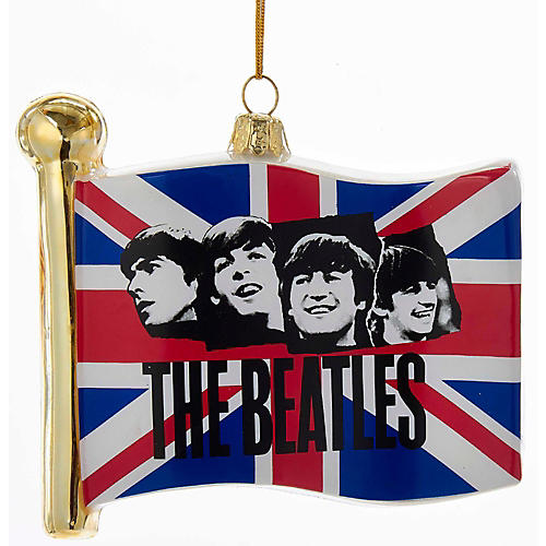 Kurt S. Adler Beatles Glass Flag Ornament