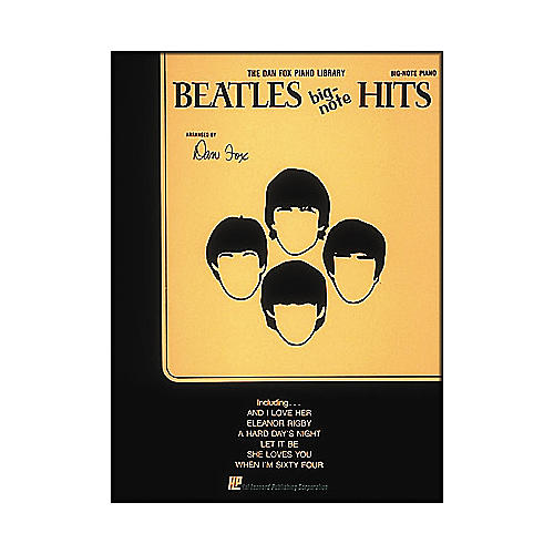 Hal Leonard Beatles Hits for Big Note Piano