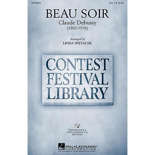 Hal Leonard Beau Soir SSA arranged by Linda Spevacek
