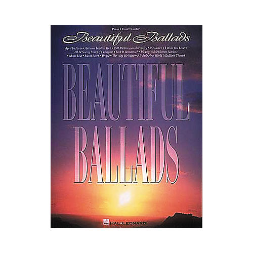 Hal Leonard Beautiful Ballads Piano/Vocal/Guitar Songbook