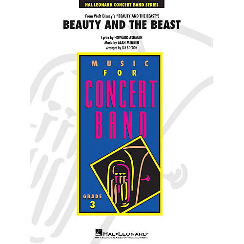 Hal Leonard Beauty and the Beast - Young Concert Band Level 3 by Jay Bocook