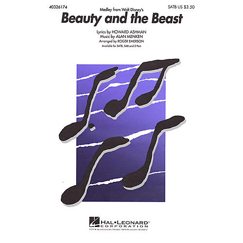 Hal Leonard Beauty and the Beast (Medley) 2-Part Arranged by Roger Emerson