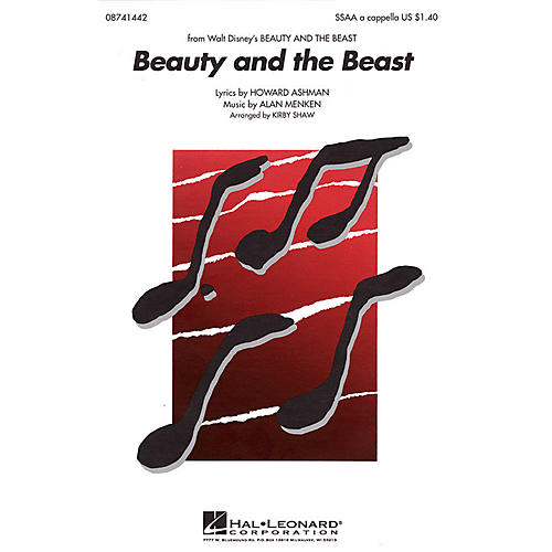 Hal Leonard Beauty and the Beast SSAA A Cappella arranged by Kirby Shaw