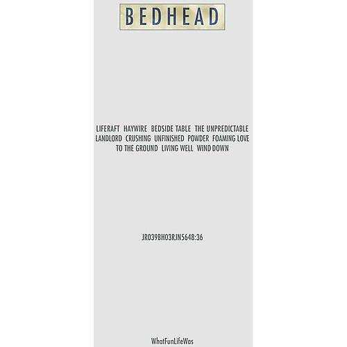 Alliance Bedhead - Whatfunlifewas