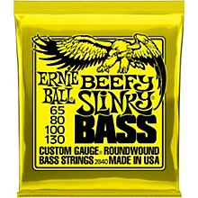 Ernie Ball Beefy Slinky Nickel Wound Electric Bass Guitar Strings - 65-130 Gauge