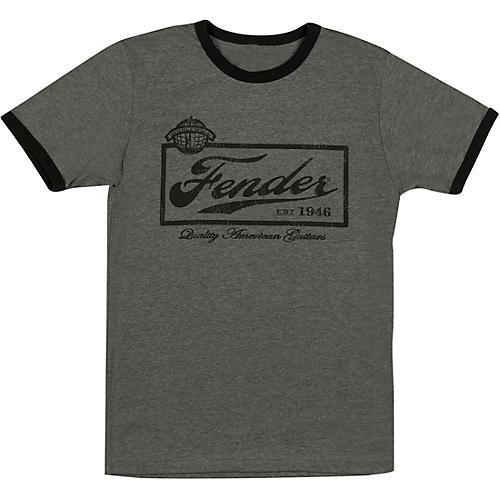 Fender Beer Label Mens T-Shirt Large Black