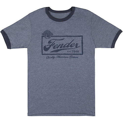 Fender Beer Label T-Shirt - Blue
